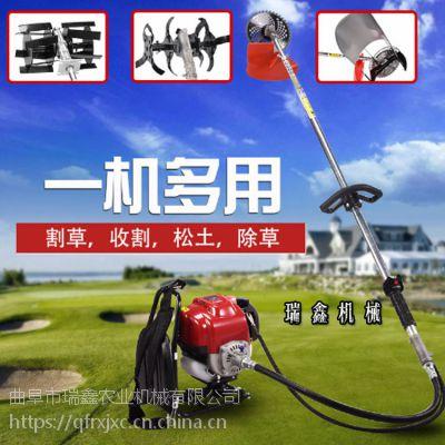 便携实用除草机 高效汽油背负式割草机 三个刀头可调换除草机