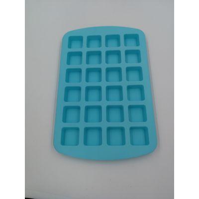 硅胶24孔方形蛋糕模冰格巧克力模冰块模硅胶食品级DIY烘焙工具厨具
