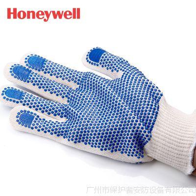 供应霍尼韦尔2232092CN舒适劳保手套 PVC点塑防滑手套