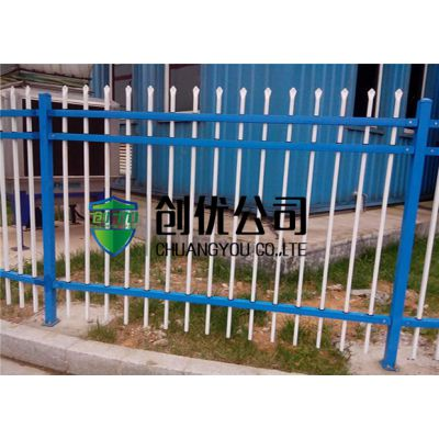 创优加工定制双横杆三横杆锌钢护栏交通安全设施 社区公园围栏