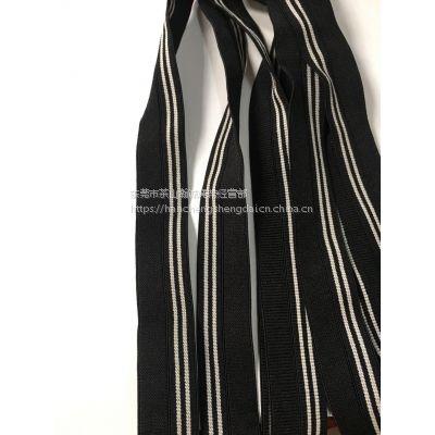 厂家直销 20MM弹力包边带 黑白色松紧带 彩色圆橡筋绳