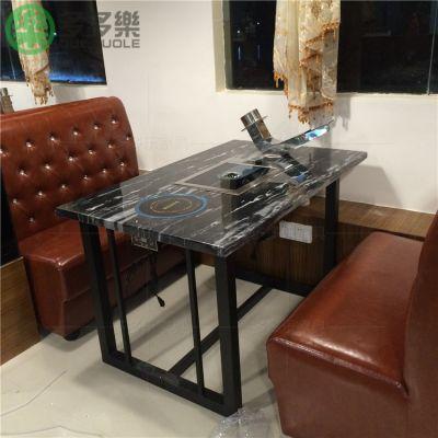 韩式烧烤桌自助 纸上烤肉桌无烟 深圳多多乐家具厂定做