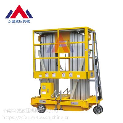 苏州铝合金升降机双柱升高6米8米10米12米14米生产厂家