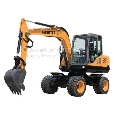 轮式挖掘机——恒特HT75W轮挖