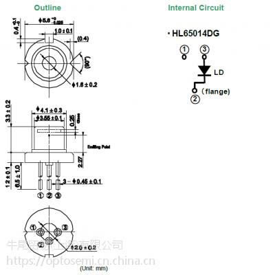 牛尾(原日立) 激光二极管 647~650波长/150mW