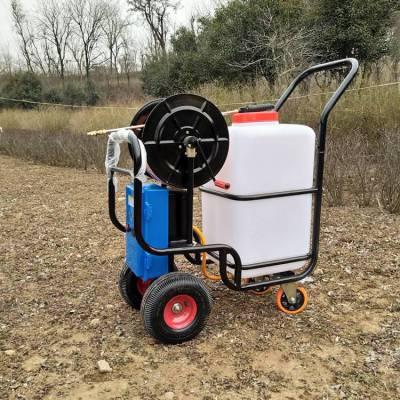 厂家生产60L小型电动打药机 新款农用充电式喷雾器 手推式四轮喷雾器