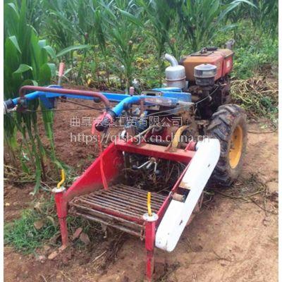手扶马铃薯收获机 优质挖蒜机 农用手扶式花生铺放收获机