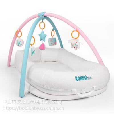 便携式婴儿床多功能新生儿床中床诺贝依简易bb床垫美国仿生设计宝宝睡床