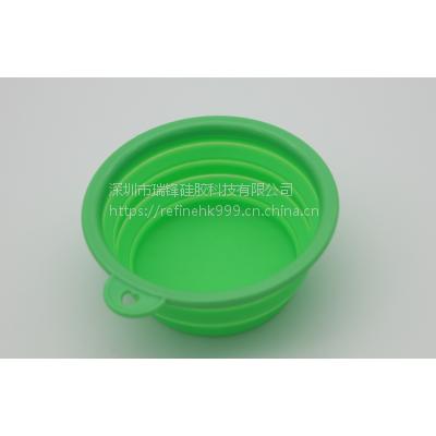 可折叠硅胶狗碗 户外用品硅胶碗