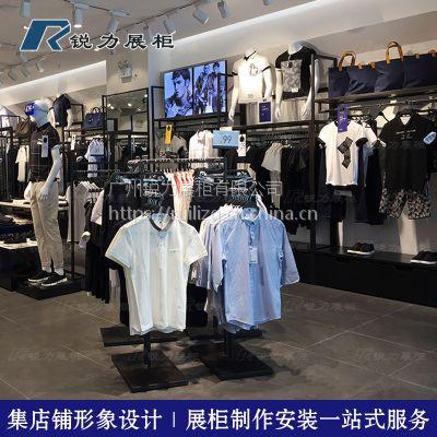 服装店烤漆靠墙边柜男装展示高架定制