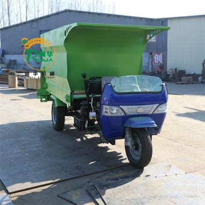 牧场专用撒料设备 分圈饲养投喂车 多功能搅拌撒料车价格