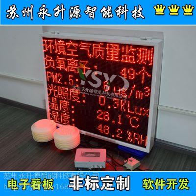 苏州永升源厂家直销定制环境空气质量检测屏扬尘在线监测系统负氧离子温湿度屏PM2.5光照度