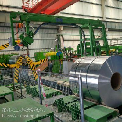 深圳厂家直销锁扣连接 铝卷钢带打捆 半自动钢带打包机