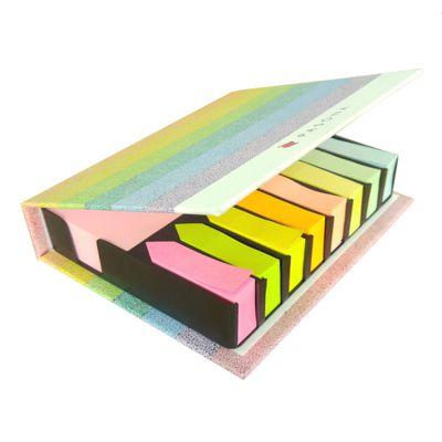 工厂批发定做盒装彩色铜板纸硬封套便签组合-博艺印刷品