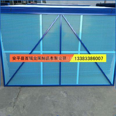 百瑞供应建筑爬架网 喷塑钢板楼外防护网 圆孔建筑外架网