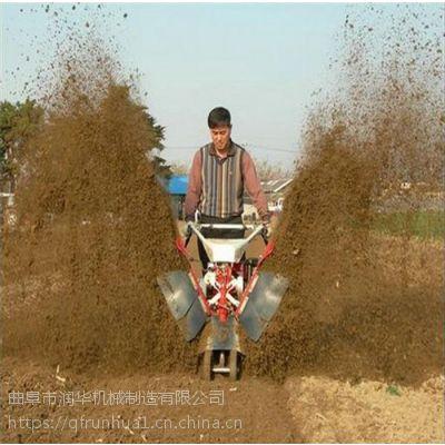 大葱培土田园管理机 汽油旋耕锄草机 多功能田园管理机