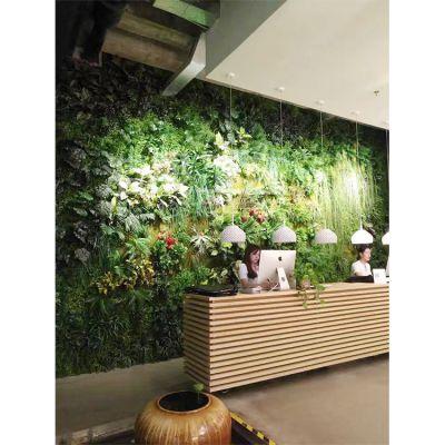 酒店餐厅咖啡厅装饰仿真植物背景墙 加厚加密塑料植物绿植景观墙 怎么报价 多少钱一平方 ?