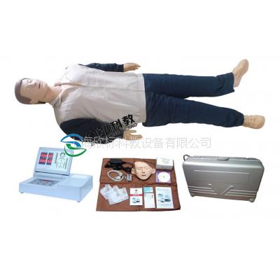 CPR490移动显示自动电脑心肺复苏模拟人,成人心肺复苏模型人