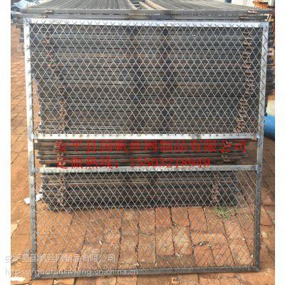 河北井口护栏厂家 施工电梯围网 提升机防护门价格
