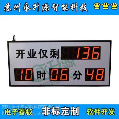 苏州永升源厂家定制工业报警倒计时显示屏 时钟温湿度计分牌 流水线车间生产电子看板 LED计数