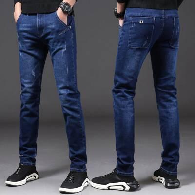 贵州哪里有便宜时尚男装牛仔长裤批发外贸出口潮流牛仔长裤批发