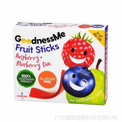 新西兰进口水果糖GoodnessMe 119g果粒果片草莓味批发