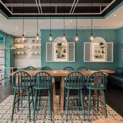 休闲甜品店餐桌椅定做甜品店实木桌椅定做