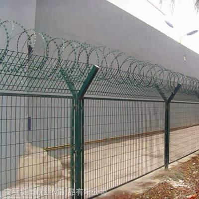 北京机场围栏网厂家 飞机场围界网 折弯钢丝网
