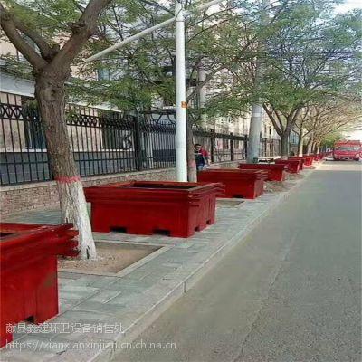 献县鑫建厂家供应花箱 防蛀木塑花箱 新款木塑花箱 街道环卫设施