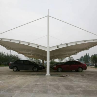 膜结构小区停车棚 优质碳素结构车棚上海膜结构停车棚