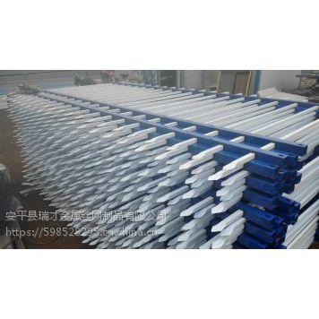 瑞才三横杠蓝白色调厂区护栏网现货齐全(1.2m-1.8m)