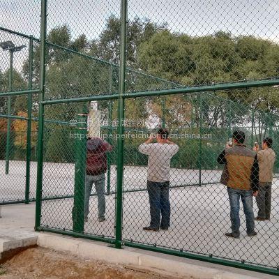 护栏网安装【球场围栏厂家 包安装】围挡网施工找飞创丝网厂
