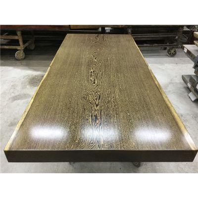 鸡翅木实木大板桌 原木办公老板桌茶桌餐桌现货230长100宽