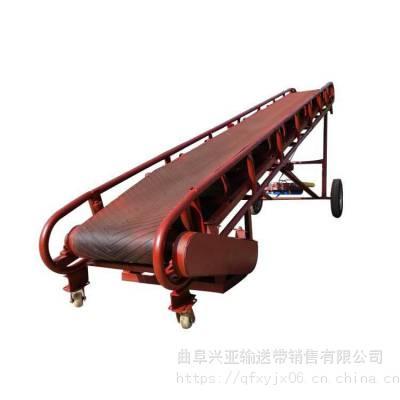 兴亚清苑县大型皮带式传送机 不同带宽输送机 圆管式带式输送机