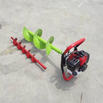 葡萄园栽桩打坑机 植树螺旋钻眼机 大马力汽油挖坑机