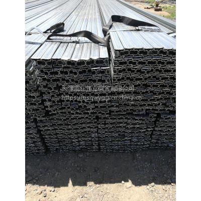 天津盛企伟业现货供应40*40*1.5镀锌双面凹槽管 质优价廉