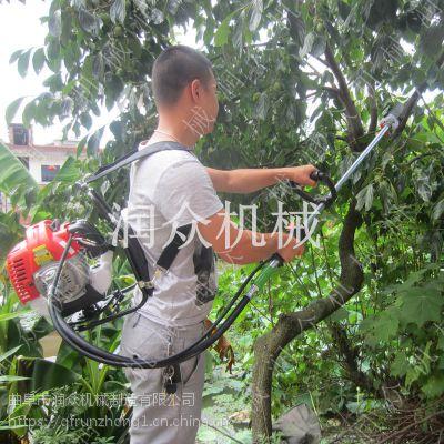 加长杆树枝断根高枝锯 一机多用汽油修剪机 耐用手持式高枝锯