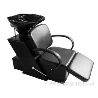 黑色洗发椅带陶瓷盆