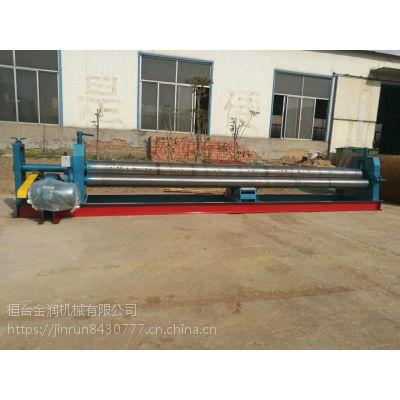 4m长半自动三辊卷板机6x4000电动铁板卷圆机卷板机
