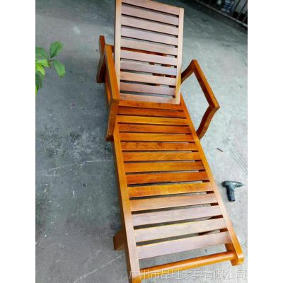 供应品旺实木沙滩躺椅TY-018
