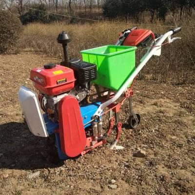 手扶式玉米播种机 果园菜园趟地机 汽油手扶式旋耕耘播机 厂家直销