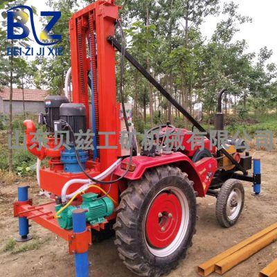 贝兹机械 回转式转机 车载履带式水井钻机 反循环钻井机 拖拉机带动