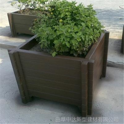 山东中达园林厂家出售水泥仿木景观制品,花盆容器,街道花箱
