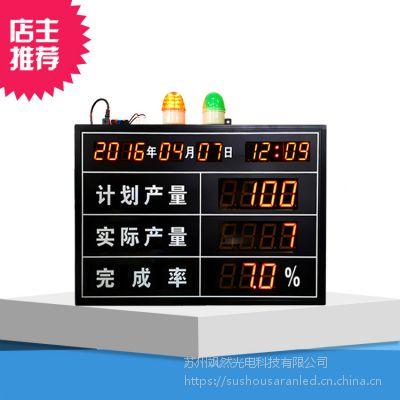 工厂车间电子看板显示屏流水线车间计数器LED大屏幕高清计件器