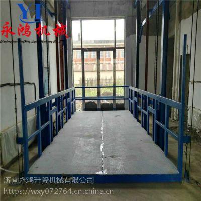 吴忠生产车间用固定升降平台,电动升降货梯优势及安装说明