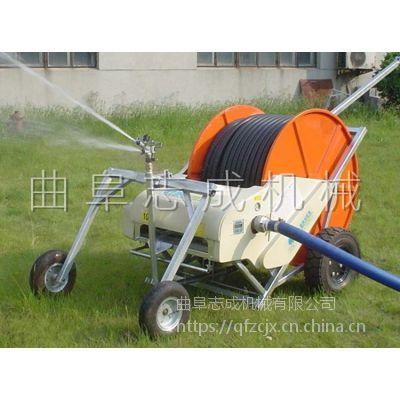 省工省时志成牌移动式灌溉机 50-180水涡轮驱动喷灌机 大面积浇地机