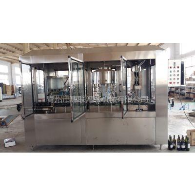 红酒联体灌装设备机果酒葡萄酒三合一灌装机