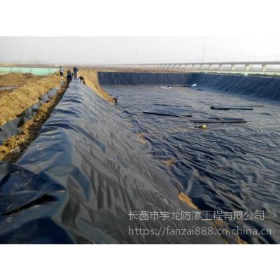 河南光面HDPE防渗膜 水产养殖沼气池化粪池防水黑塑料膜