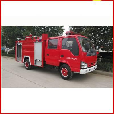大型粮站采购重汽5吨水罐消防车正式上岗
