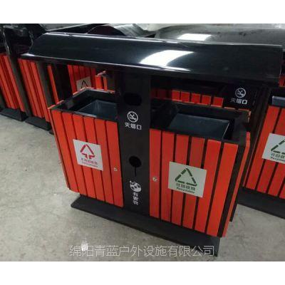 【畅销款】郊区木制垃圾桶 款式多样 钢木多分类垃圾箱 绿道环卫桶